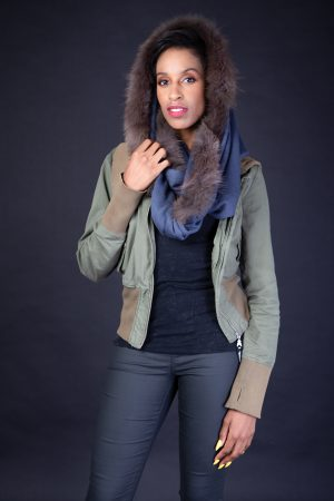 Petrol Blue Snood Cashmere