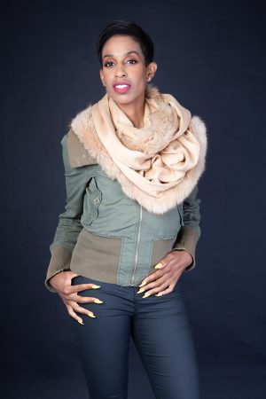 Camel Snood Cashmere Fox Fur