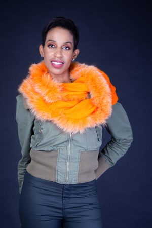Orange Snood Cashmere Scraves