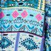 BLUE/PINK AZTEC DESIGN
