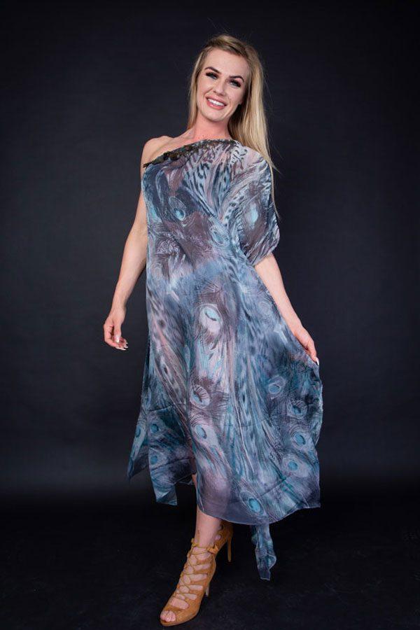 PEACOCK PRINT DRESS